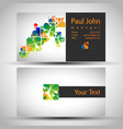 abstract business card front and back design vector image vector image