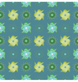 Abstract green flowers pattern vector image vector image