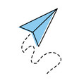 airplane paper flying icon vector image vector image