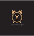 alarm clock logo design vector image vector image