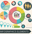 An infochart with statistics vector image vector image