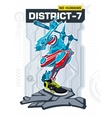 Armed Robot From District 7 vector image
