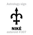 astrology asteroid nik vector image vector image