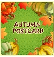 Autumn background for a poster or other postcard vector image vector image
