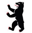 berlin city coat arms bear symbol vector image vector image