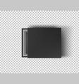 black empty box mock up on transparent background vector image vector image