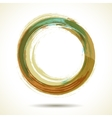 Brown and green vintage themed watercolor ring vector image vector image