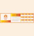 calendar 2020 set desk calendar template design vector image vector image
