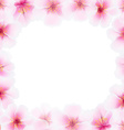Cherry Flower Frame With Blur vector image