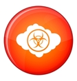 Cloud with biohazard symbol icon flat style vector image vector image