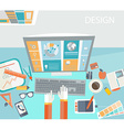 Concept of creative office workspace vector image