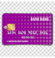 contactless credit card mock up template vector image vector image
