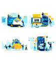 cooperation for success teamwork business people vector image vector image