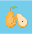 creative pear fruits and pear half vector image