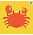cute big fat cancer zodiac cartoon vector image vector image