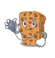 doctor granola bar character cartoon vector image
