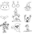 Element halloween zombie ghost doodle vector image vector image