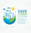 environmental protection and ecology planet vector image vector image