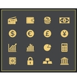 Financal icons set vector image vector image