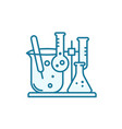 flasks with chemical icon chemistry science test vector image vector image