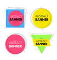 geometric banners promo labels geometric shapes vector image vector image