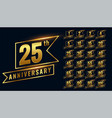 golden happy anniversary premium labels logotype vector image