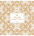 golden ornamental seamless pattern vector image vector image
