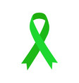green ribbon mental health icon vector image