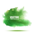 green spring watercolor smear stain vector image