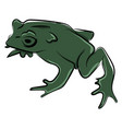 green toad on white background vector image vector image