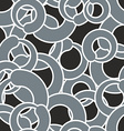 Grey circle seamless pattern Grey abstract vector image vector image