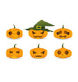 halloween cute pumpkin vector image