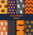 halloween pattern set vector image vector image