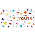 happy youth day abstract retro background banner vector image vector image