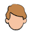head man character profile people design vector image vector image