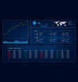 hud gui interface trading great design for any vector image vector image