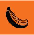 icon of banana vector image vector image