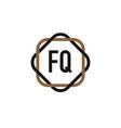 initial letter fq elegance logo design template vector image vector image