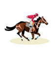 jockey on horse horse racing horse riding vector image vector image