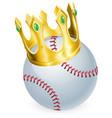 king of baseball vector image