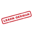 Learn German Rubber Stamp vector image