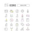 line icons eid al-fitr vector image