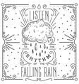 listen to rhythm falling rain hand vector image vector image