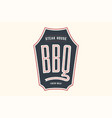 logo bbq steak house vector image vector image