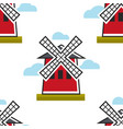 moulin rouge french symbol seamless pattern mill vector image vector image