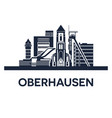 oberhausen city skyline germany ruhr area solid vector image vector image