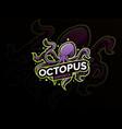 octopus sport mascot logo design vector image vector image