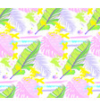 pattern doodles and sketches tropical leaves vector image vector image