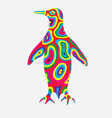 Penguin colorfully vector image