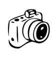 photo camera drawing vector image